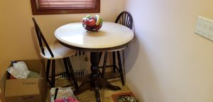 Kitchen Dining table with chairs used all wood for Sale in Queens, NY