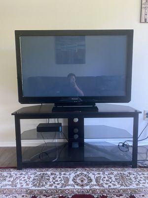 "Panasonic 46"" HD Plasma TV + TV Stand for Sale in Troy, MI"