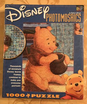1000 Piece Puzzle Winnie the Pooh Photomosaics Disney BRAND NEW for Sale in Woodbridge Township, NJ
