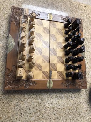 Vintage Hand-carved Chess Set from China for Sale in La Quinta, CA
