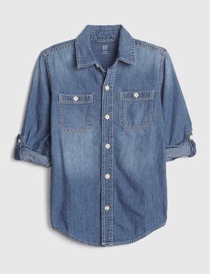 GAP Kids Denim Convertible long sleeve shirt for Sale in Irvine, CA