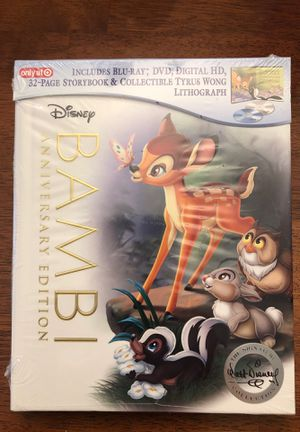 Blu-Ray Disney's Bambi Limited Edition New for Sale in Las Vegas, NV