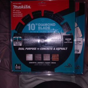 "10"" Diamond Blade Makita Table Saw Blade for Sale in Upland, CA"