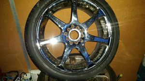 "17"" Chrome 5 lug universal rims for Sale in Portland, OR"