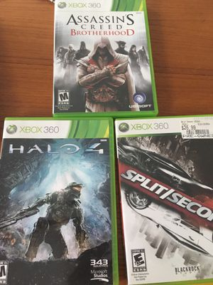 Xbox 360 games, used, $5 each for Sale in Potomac, MD