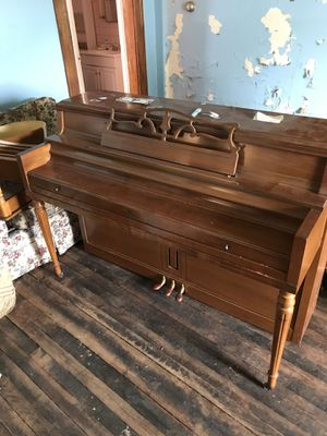 Wurlitzer piano. With bench. Fair condition for Sale in White Hall, WV