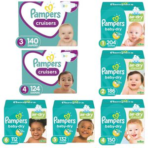 Pampers Diapers Big Box for Sale in Los Angeles, CA