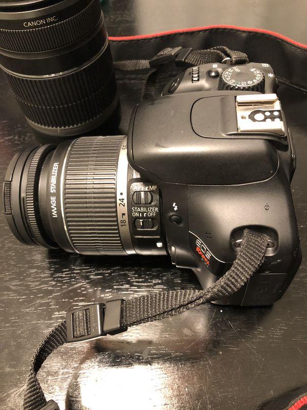 Canon Rebel t2i w/ 18-55mm & 55-250mm lenses