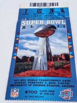 Superbowl XLii Ticket for Sale in Kirkland,  WA