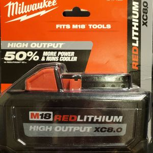 New Milwaukee M18 18-Volt Lithium-Ion XC Extended Capacity 8.0Ah Battery Pack for Sale in Seattle, WA