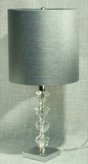 """Real Cut Glass Lamp 21""""x10"""" (1 available) *PICKUP ONLY* home decor, household, lamps, table lamps for Sale in Mesa, AZ"""