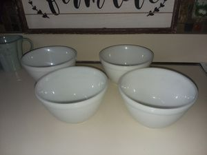 Set of 4, Pyrex Opal White Bowls for Sale in Berlin, CT