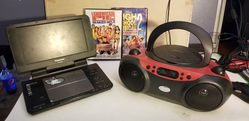 DVD player & CD radio with bluetooth 2 free movies for Sale in San Diego,  CA