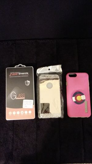 IPhone 6 plus 6S Plus cases and 2 tempered glass screen protectors for Sale in Wheat Ridge, CO