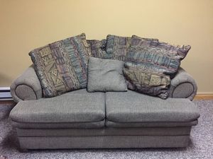 Loveseat sofa with pillows for Sale in Pine River, MN