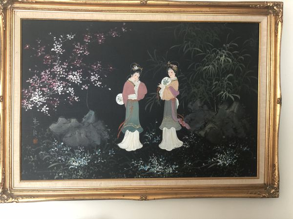 Beautiful large Asian painting Artist Signed