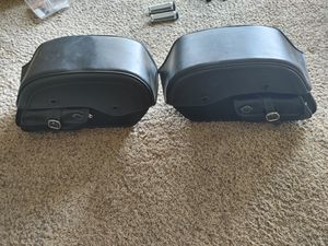 Viking hard leather motorcycle bags for Sale in Manteca, CA