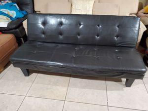 Black Futon/Mini Sofa for Sale in Spring Valley, CA