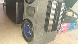 Pioneer speaker 10in 1100 watts amp for Sale in Fresno, CA