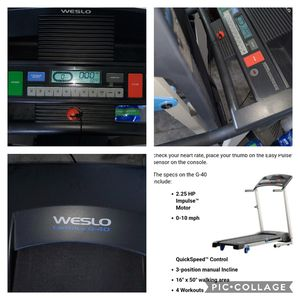 weslo cadence g40 treadmill for Sale in Riverview, FL