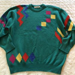 Vintage Burberry Geo Color Block Sweater Sz Large for Sale in Largo,  FL