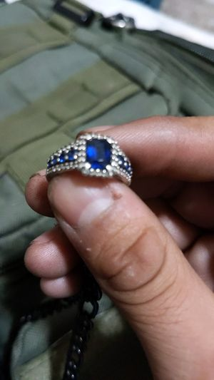 Silver and sapphire ring for Sale in Littleton, CO
