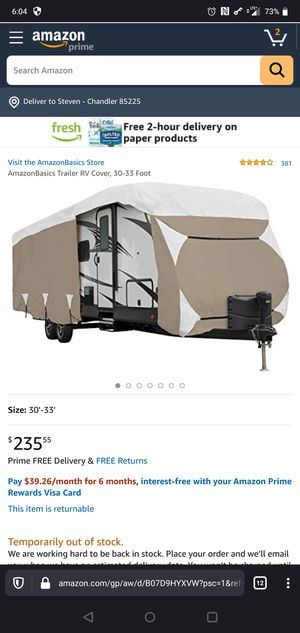 18-20ft RV cover, never used for Sale in Chandler, AZ