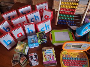 Set of creative, educational games, playboards, puzzles, magnets, etc for Sale in Prospect Heights, IL