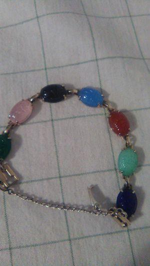 Vintage Scarab Glass Real Scarab Bracelet for Sale in Greensburg, PA
