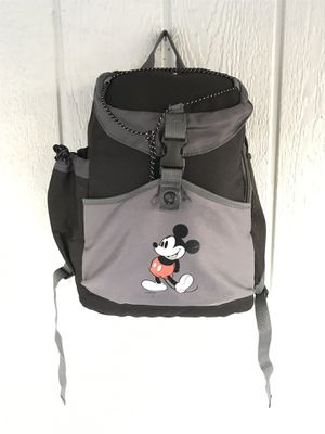 Disney Mickey Mouse Insulated Backpack Cooler Adult Size Black Gray Zip Snap for Sale in Orange, CA
