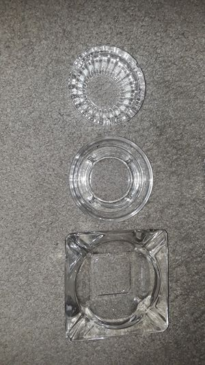 Antique glass ashtrays for Sale in Pittsburgh, PA