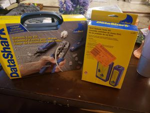 Data shark network kit and RJ45 network tester two for one price new in box for Sale in Phoenix, AZ