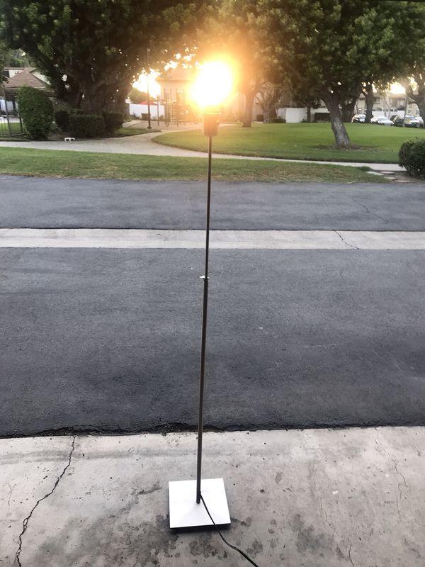"""Floor lamp - silver no shade - 55"""""""