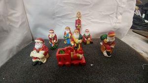 Vintage Christmas Santa Claus Ceramic Miniature figurines for Sale in La Habra, CA