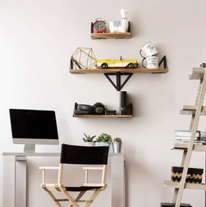 Floating Shelves Wall Mounted Rustic Wood Wall Shelves Office Decor Household Bedroom Bathroom for Sale in Chicago, IL