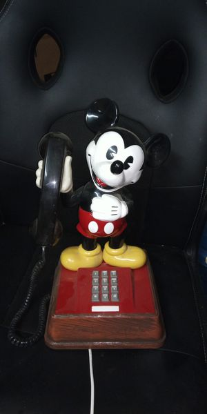 Vintage Mickey Mouse Telephone Push Button 1970's Teif-8000 Disney for Sale in Wichita, KS