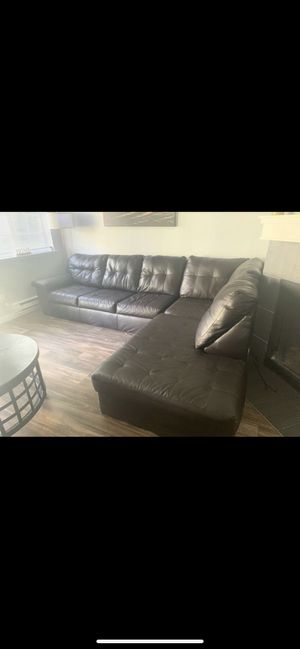 Leather couch for Sale in Fircrest, WA