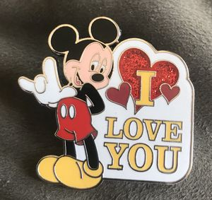 """Disney Pin Mickey Mouse - Sign language """"I Love You"""" pin 96743 for Sale in Whittier, CA"""