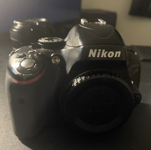 Nikon d5100 with lenses for Sale in Cambridge, MD