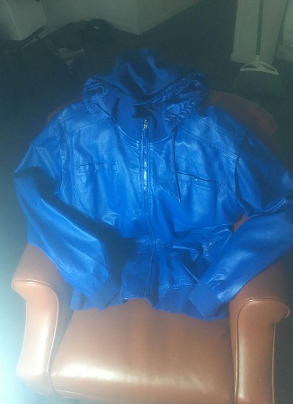 Request blue hoodie Jacket