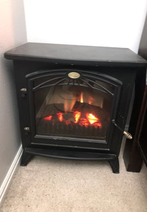 Black Space Heater end table for Sale in Draper, UT