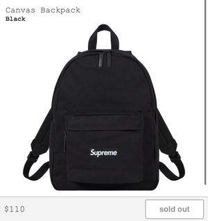 Supreme FW20 Canvas Backpack Black Box Logo Brand New for Sale in Riverside, CA