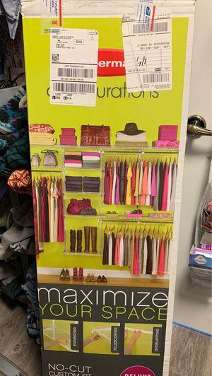 Rubbermaid Configurations Closet organizer for Sale in Mission Viejo, CA