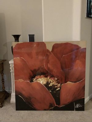 Gorgeous Red Flower Wall Art! for Sale in Fresno, CA