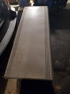 Single metal shelves size are 4ft long 17inches wide for Sale in Crestwood, IL
