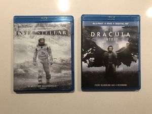 Interstellar, Dracula Untold bundle for Sale in Aurora, CO