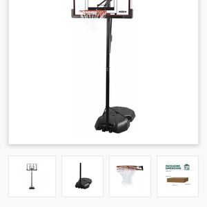 Reebok RBK 51457 XL Portable Basketball Hoop with 50 Inch Shatter Guard Fusion Backboard for Sale in Eatontown, NJ
