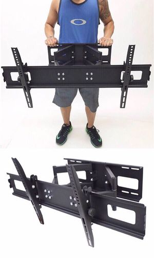 New in box 40 to 85 inches swivel full motion tv television wall mount bracket 110 lbs capacity with hardwares included for Sale in West Covina, CA