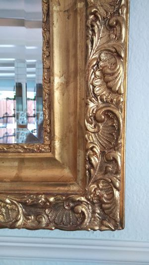 Antique Hand Carved Gold Leaf Mirror for Sale in Deerfield Beach, FL
