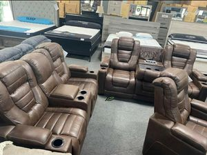 🍾🍾 Best Offer ‼ EXCLUSIVE] Game Zone Bark Power Reclining Living Room Set with Adjustable Headrest SAME DAY DELIVERY for Sale in Jessup, MD